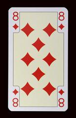 Spielkarten der Ladys - Karo Acht