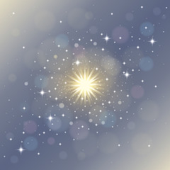 Abstract magical star dust background