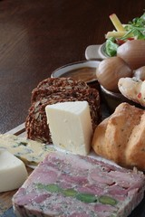 traditional ploughmans lunch platter