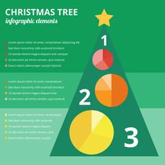 Christmas tree infographic elements