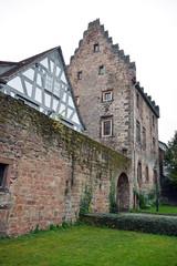 Stadtmauer und Templerhaus in Erbach Odenwald