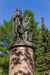 Arkhangelsk, Russia. Monument to M.V. Lomonosov