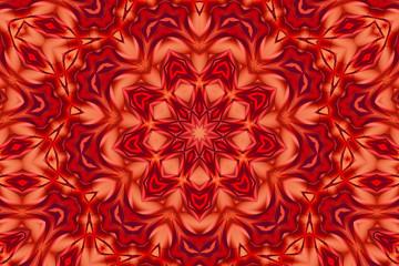 Red fantasy kaleidoscope