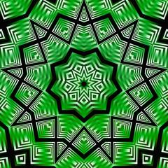 Kaleidoscope green white black