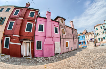 Colourful buildings of Burano, Venice - Italy