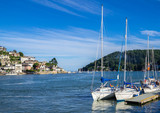 Sailing Yachts Moored at Dartmouth, England