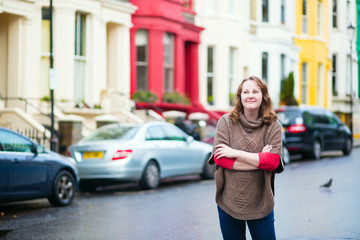 Smiling girl in Notting Hill