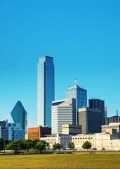Dallas cityscape in the morning