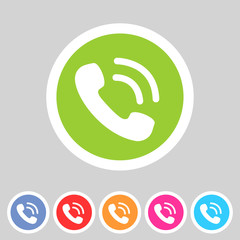 phone telephone flat icon
