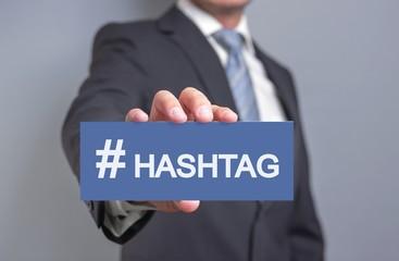 # Hashtag Schild