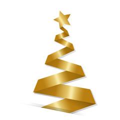 Origami Tanne gold Stern