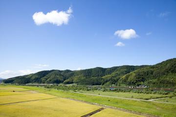 兵庫県豊岡市の田園風景