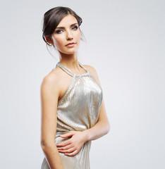 Fashion woman portrait. Beautiful model. Studio