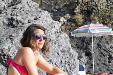 A girl at beach