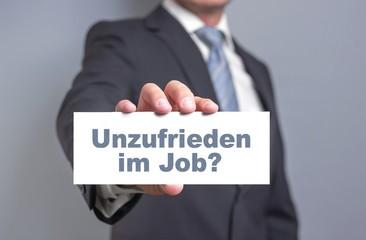Unzufrieden im Job?
