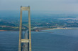 storebæltsbroen in Denmark view from the top