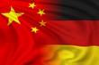 Leinwanddruck Bild - China and Germany flag