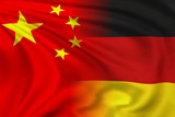 Fototapety China and Germany flag