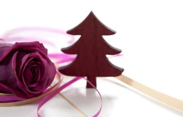 Sapin et rose de Noel