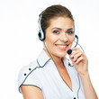 Woman call center operator