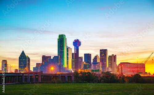 Overview of downtown Dallas - 72862553
