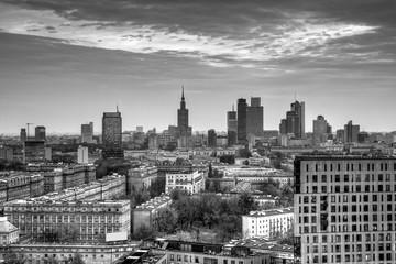 Panorama of Warsaw.HDR-high dynamic range