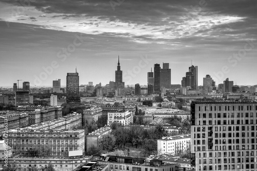 Panorama of Warsaw.HDR-high dynamic range - 72863131