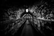 Dark undergorund passage with light - 72863740