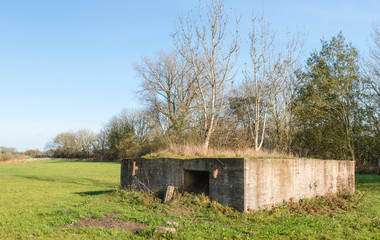 Historic bunker in the Netherlands
