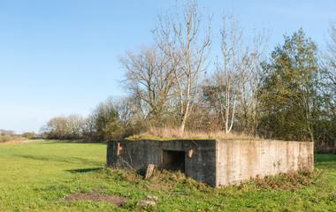 Historic bunker in the Netherlands