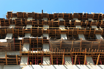 formwork systems at building site