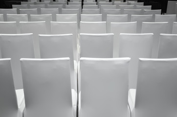 White Conference Chairs