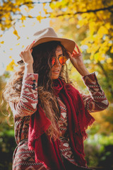 autumn fashion woman outdoor