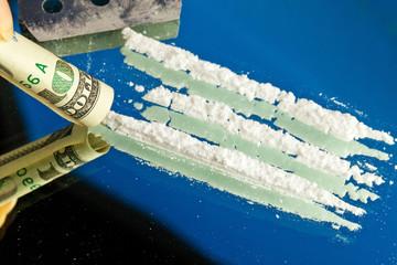 Symbolfoto Kokain. Missbrauch vom Drogen