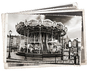 Vintage photos Carousel