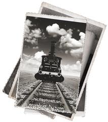 Vintage photos Old locomotive