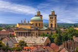The Basilica is the only Classicist building in Eger, Hungary.