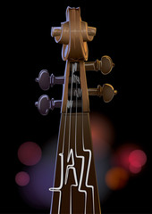 Contrabass. Jazz concept made from musical strings