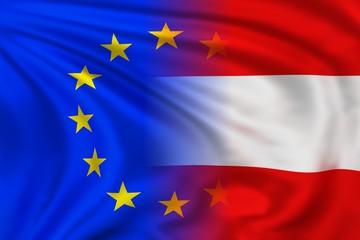 EU and Austria flag