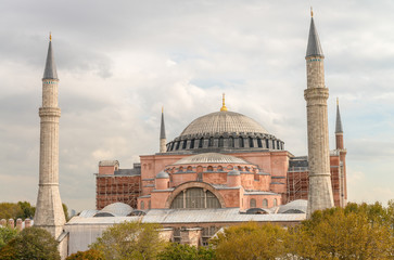 Hagia Sophia Cathedral exterior view, Istanbul