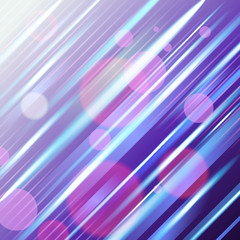 Dark violet abstract background with diagonal glowing neon rays