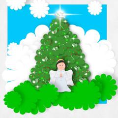 Angel Christmas greeting card