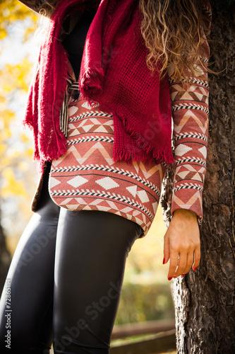 canvas print picture autumn fashion details