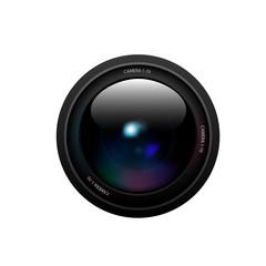 Camera lens on white background. Vector