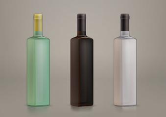 vector blank glass bottles for new design