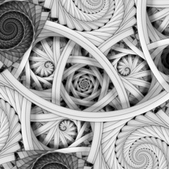 Golden ratio spiral fractals