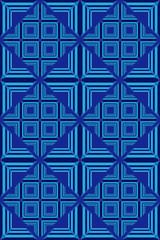 blue Geometric Pattern iv002