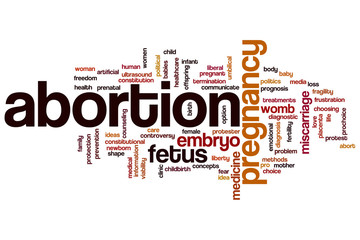 Abortion word cloud