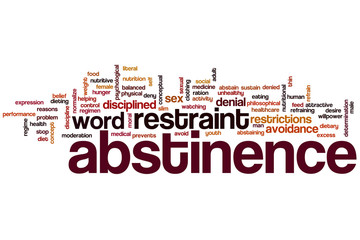 Abstinence word cloud