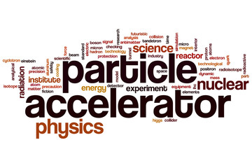 Particle accelerator word cloud